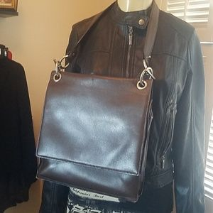 BOTTEGA VENETA BROWN MESSENGER BAG